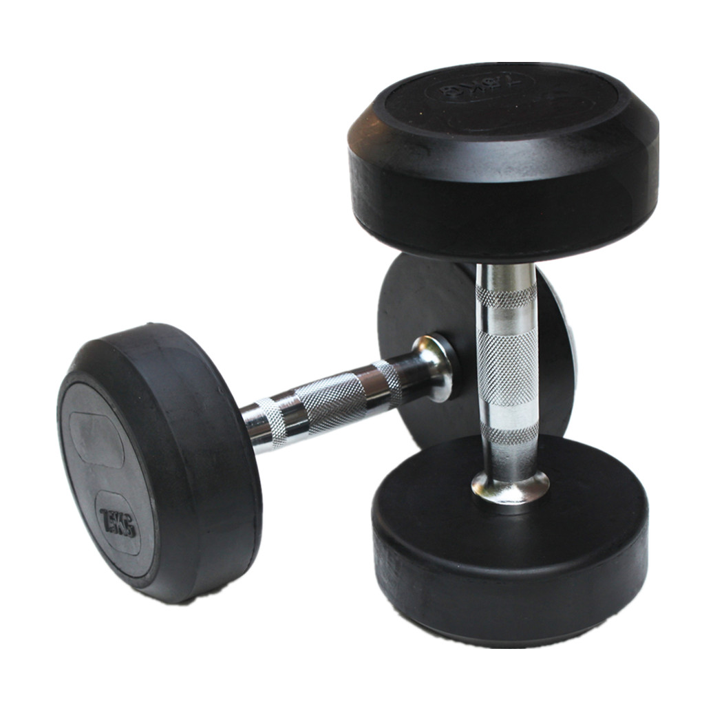 CM-825 Profession Fixed Rubber  Dumbbell